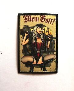 Pin Up Mein Gott ! Patch Morale Militaire Tactique Armée Drapeau 7,6cm x 5cm