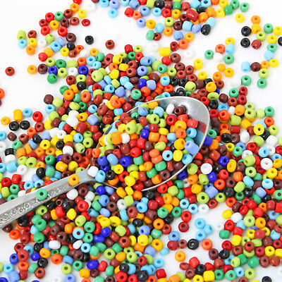 Glass Seed Beads 6//0 Black Opaque Color 4mm over 650 beads 50g BD1314