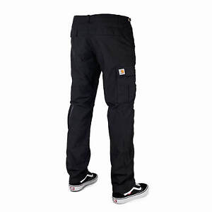 97b02e83a7 Carhartt Wip Aviation Cargo Pants Black - Slim Fit Cargo Trousers ...