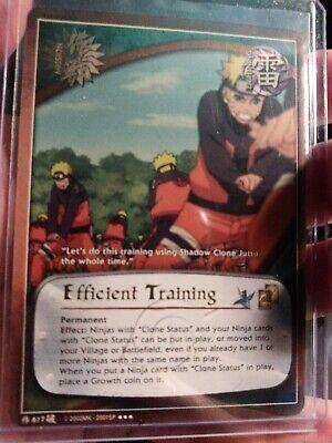 1x FOIL Efficient Training 617 Super Rare Super Rare Naruto CCG NM