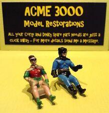 Corgi 267 Batmobile & 107 Batboat Replacement Repro Pair Batman & Robin Figures