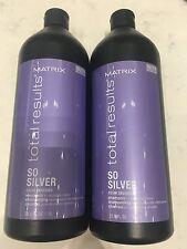 Matrix Total Results So Silver Shampoo 33.8oz - 2 PACK DUO SET Free 2-Day Ship!