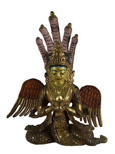 Soprammobile-Tibetano-Naga-Kanya-Contornate-E-Dorure-Tibet-Nepal-AFR9-5211