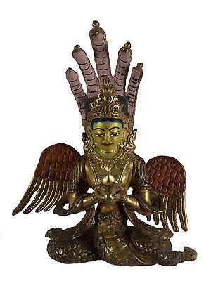 -statue Tibetische Naga Kanya -copper Und Vergoldung-tibet - Nepal- Afr9- 5211 Wasserdicht, StoßFest Und Antimagnetisch