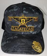 EL AVION DEL CHAPO ZACATECAS  MEXICO  701 HAT 2 LOGOS DIGITAL HAT GRAY BLACK