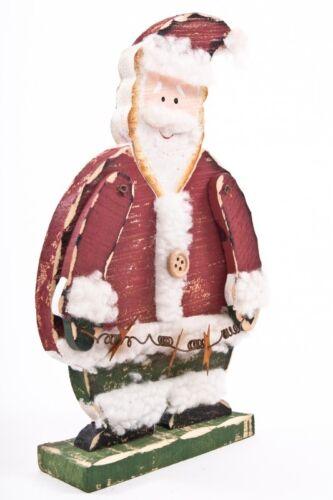 Stand personnage père Noël//père Noël en bois hauteur environ 20cm