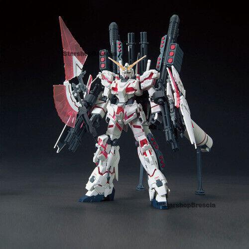 1//144 RX-0 Full Armor Unicorn Destroy Mode Red Model Kit HGUC # 199 GUNDAM