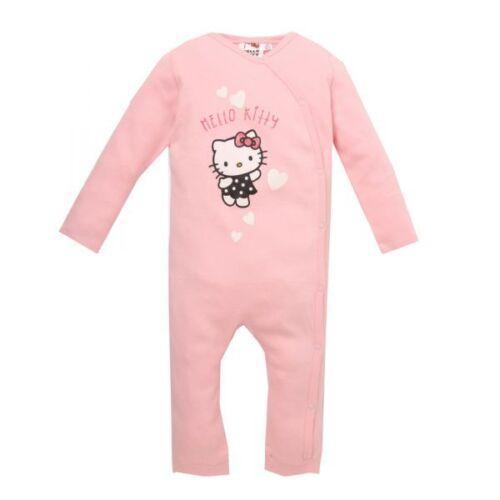 62-92 Gr Anzug rosa Glitzereffekt Hello Kitty Strampler