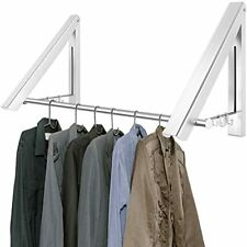 Harebe Retractable Clothes Rack Wall Mounted Folding Clothes Hanger Drying