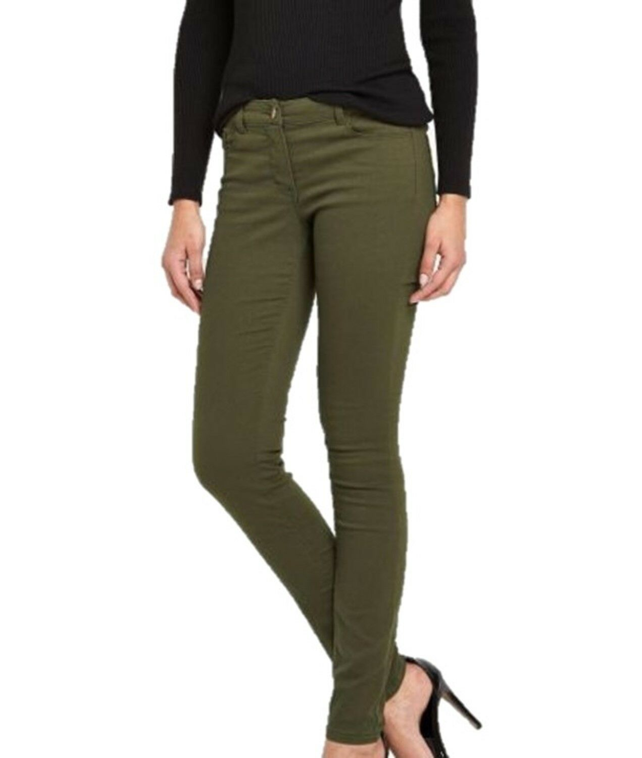 Ladies Ex Famous Store Pink Khaki Supper Skinny Womens Jeggings Skinny Jeans Ebay