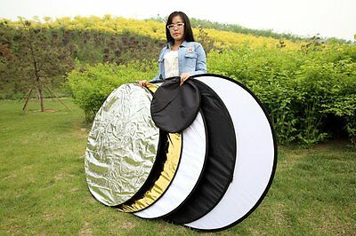 """43""""110cm 5-in-1 Mulit Collapsible disc Photo Photography Reflector for Flash"""