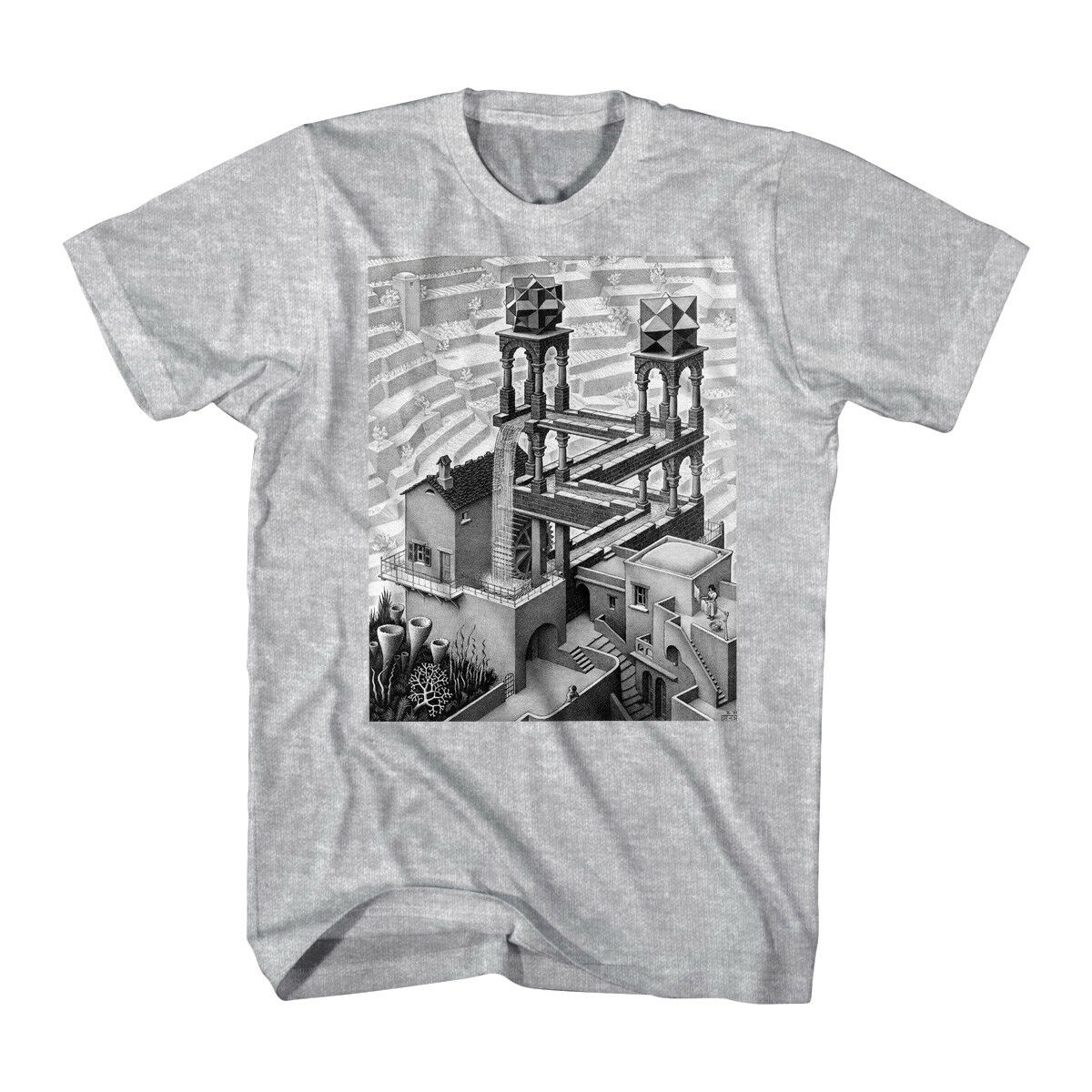 Relativity M. C. Escher Graphic Artist Adult T Shirt