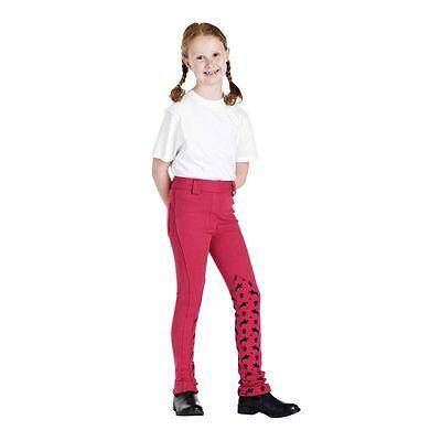 "Harry Hall Vincitore Kids Junior Jodhpurs Pink Pony Stampa Jodhpurs Lungo 26"" 9-10yrs-mostra Il Titolo Originale Irrestringibile"