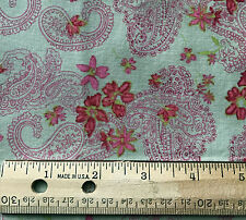JOANN STORES PAISLEY 41 x 34 piece fabric cotton Quilting paisley #77