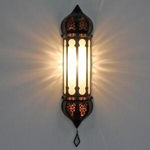 Orientalische-Marokkanische-Wandlampe-Ruya-Weiss-Wandleuchter-Glaswandlampe