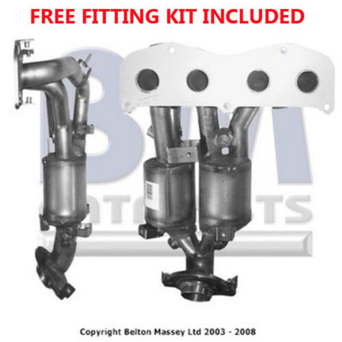 Fit with TOYOTA PREVIA Catalytic Converter Exhaust 91209H 2.4 Fitting Kit Inclu