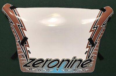 Brown and SE Blue w//Black /& Gold trim ZeroNine 2019 Lightning Bolt Number Plate