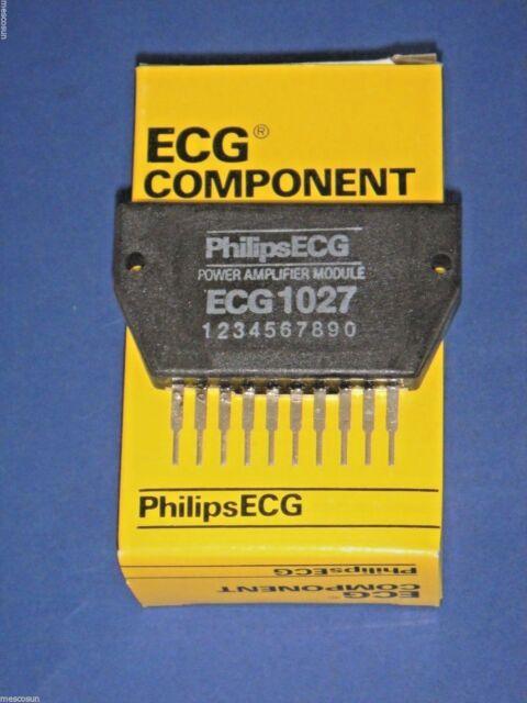 philips ecg1027 audio power amplifier module 13w 10 pin intergrated rh ebay com LM386 Audio Amplifier Circuit 500 Watts Car Audio Amplifier Circuit Diagram