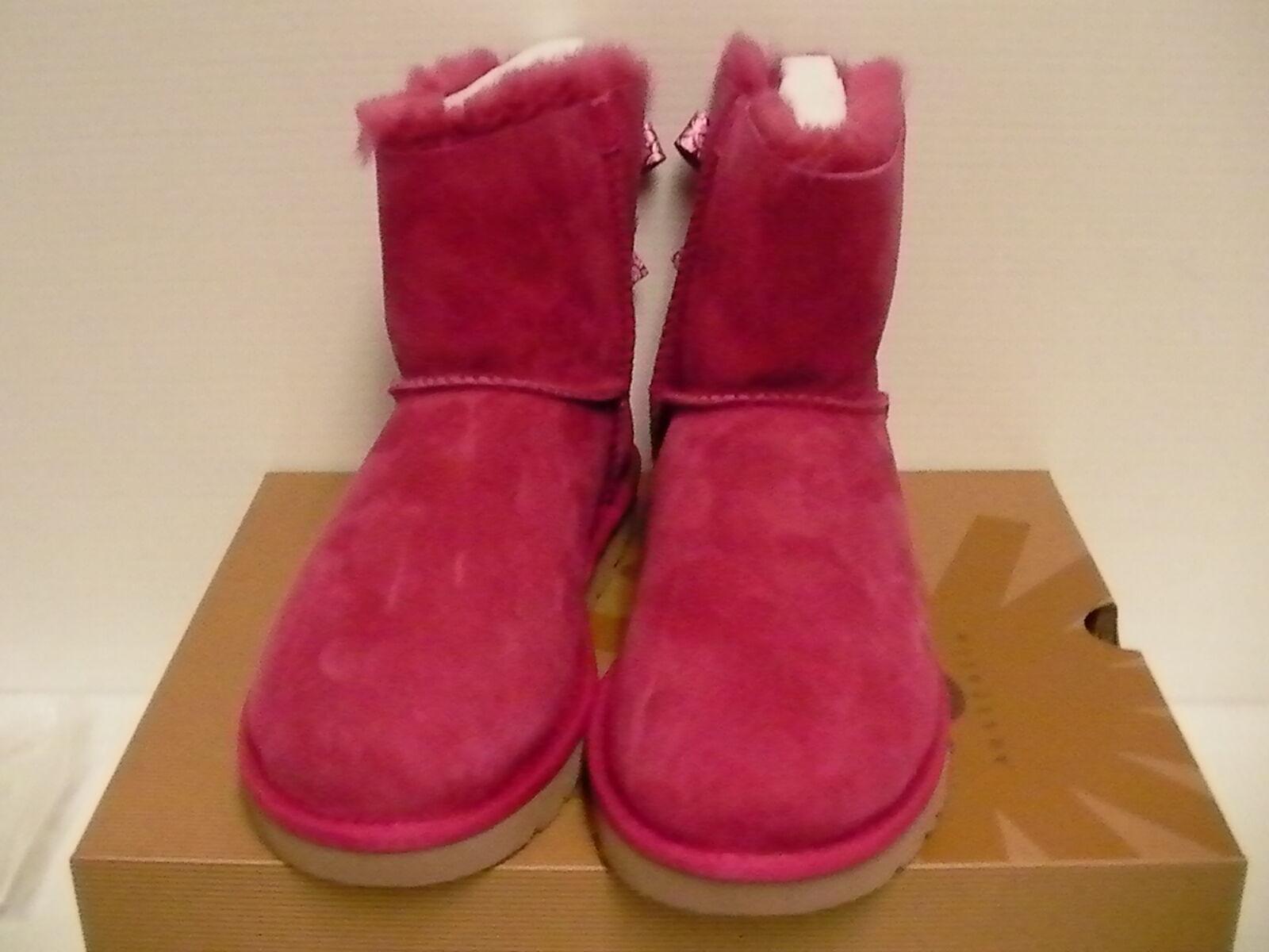 Botas ugg para mujer mini bailey arco vieira piel de oveja rosa tamaño 7 us nuevo con caja