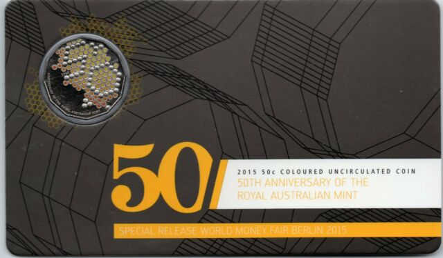 50c 2015 World Money Fair Special Release UNC