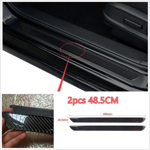 2× Universal Carbon Fiber Car Door Sill Scuff Plate Protector Panel Trim 48.5cm