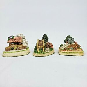 David-Winter-Cottages-Cameos-Lot-of-3-Figurines-Ornaments-with-COA-039-s