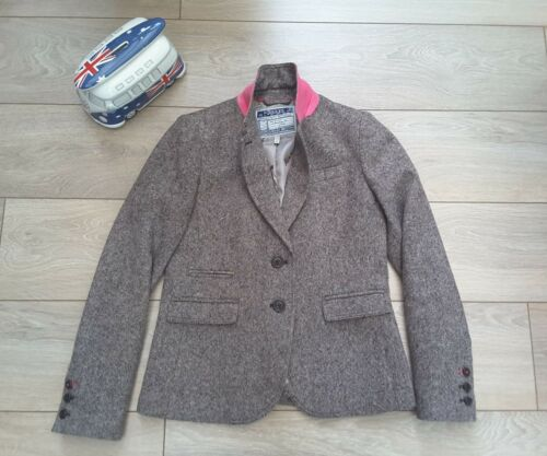Dunmere Uk 8 Tweed Veste Wool Don Blazer Rose Marron Joules OYxdqZwvd