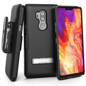 For-LG-G7-ThinQ-Case-with-Kickstand-and-Belt-Clip-Holster-Slim-Combo-Case-Design