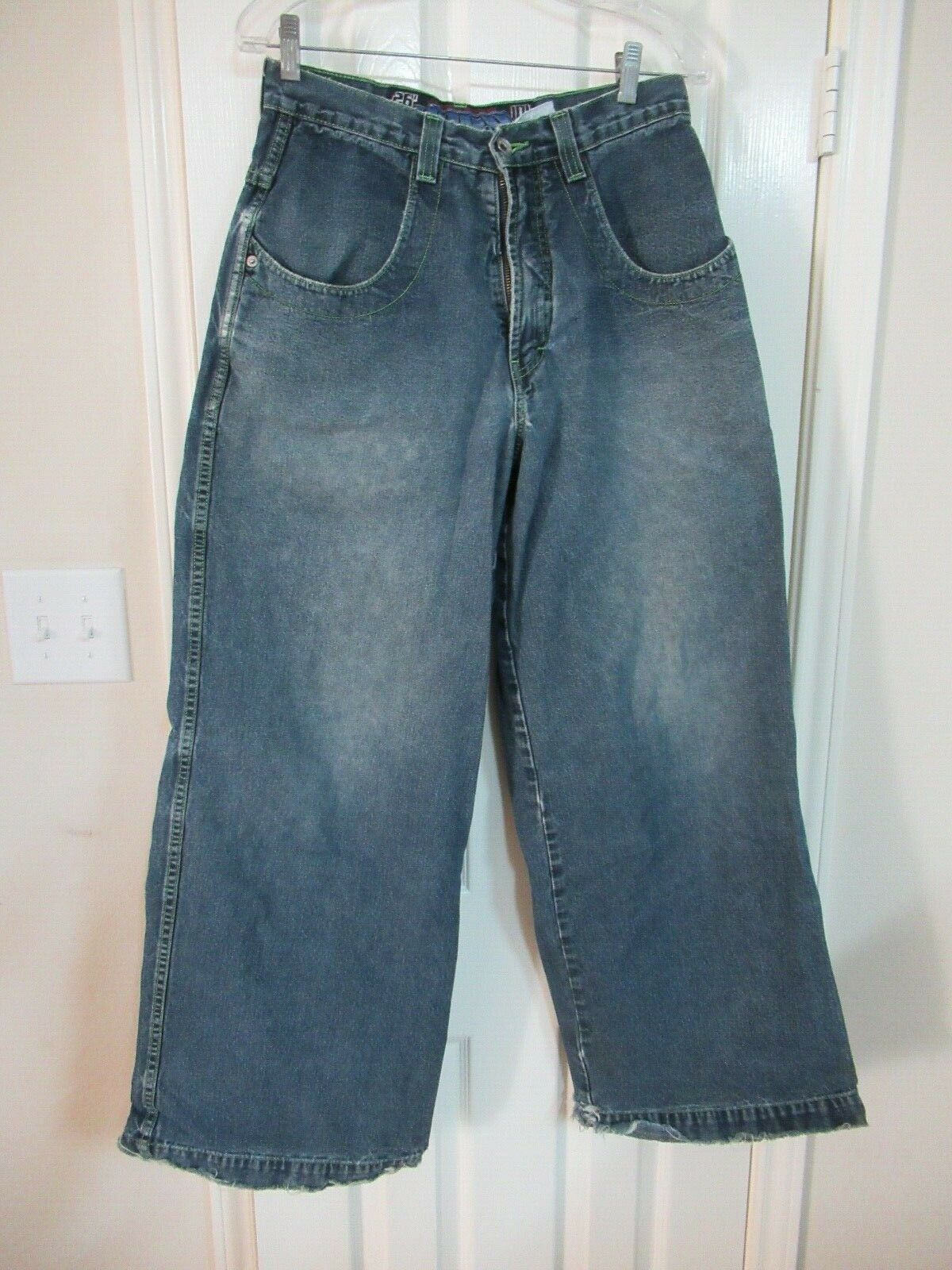 ORIGINAL VINTAGE JNCO DENIM blueE JEANS TWIN CANNON 31W 32L MADE IN USA WIDE LEG