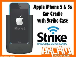 STRIKE-ALPHA-APPLE-IPHONE-5-amp-5s-CAR-CRADLE-WITH-STRIKE-CASE-BUILT-IN-CHARGER