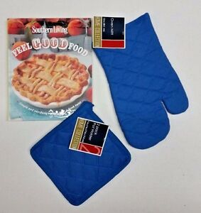 Southern living feel good food cookbook and blue 3 piece oven mitt image is loading southern living feel good food cookbook and blue forumfinder Image collections