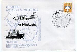 1984 25 Jahre Antarktis Vertrag Ddr Mitgliedschaft Berlin Polar Antarctic Cover Parfait Dans L'ExéCution
