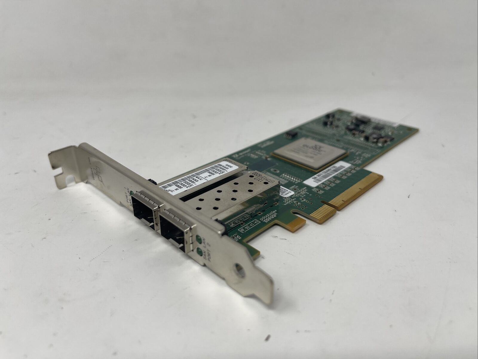 QLogic QLE8142-IBMX Dual Port 10Gbps Enhanced Ethernet to PCIe Network Adapter