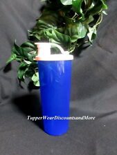 TUPPERWARE NEW Blue 16 oz Tumbler Cup White FLIP Top Seal