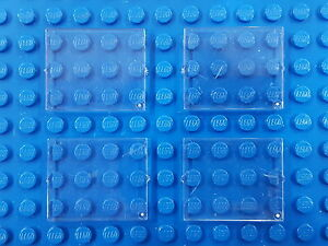 LEGO 4x / FOUR Window Glass 1x4x3 part# 3855 TRANS CLEAR fits 3853, 4033, etc.