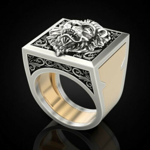 Men/'s Combination Rings Gift Ring Hip Hop Jewelry Punk Rings Plated Two-ToneTEUS