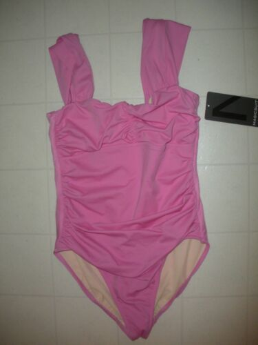 Magicsuit by MIRACLESUIT Pink Solid Natalie 1-Pc Swimsuit Sz 16 NWT