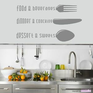 Image Is Loading Wall Tattoo Kitchen Food Cooking Dessert Dining Room