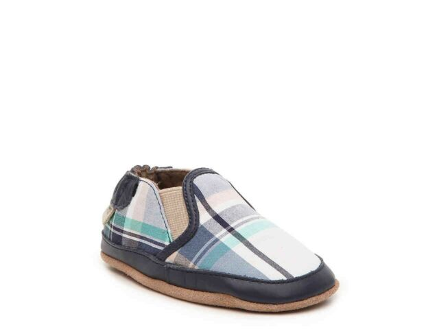 Boys Robeez Stylish Steve Navy Shoes 12