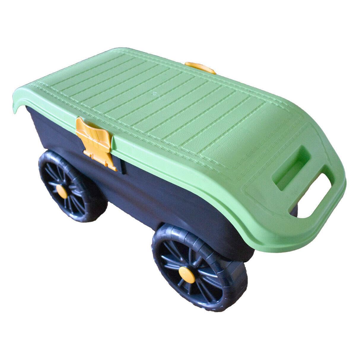 Garden stool on wheels seat n roll