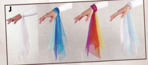 New in Pkg CHiffon Wrist scarves 3 color combos to choose from set of 6