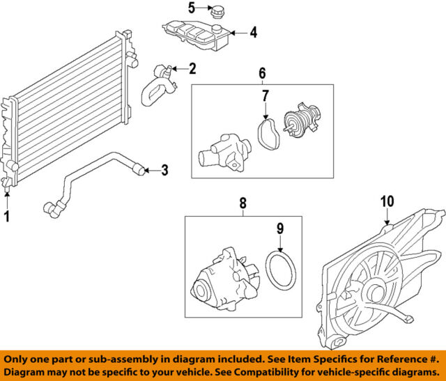 ford oem 13-16 escape radiator coolant-lower hose cv6z8260n