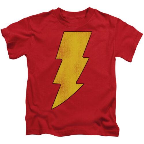 7 5//6 Big SHAZAM LOGO DISTRESSED Licensed T-Shirt KIDS Sizes 4