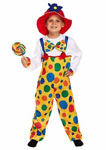 Child-Clown-Body-Suit-Fancy-Dress-Up-Outfit-Boys-Girls-Book-Week-Circus-Costume