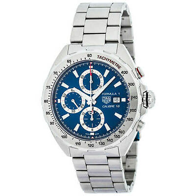 TAG HEUER FORMULA 1 CALIBRE 16 CHRONOGRAPH BLUE DIAL MEN'S WATCH CAZ2015.BA0876