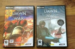 PC-CD-ROM-Warhammer-40-000-Dawn-of-War-und-Winter-Assault-Game-kostenlos-UK-PORTO