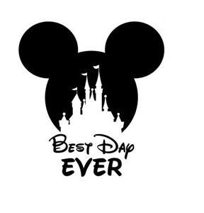 a81151857 DISNEY******MICKEY MOUSE CASTLE BEST DAY EVER ::::::::::T-SHIRT IRON ...