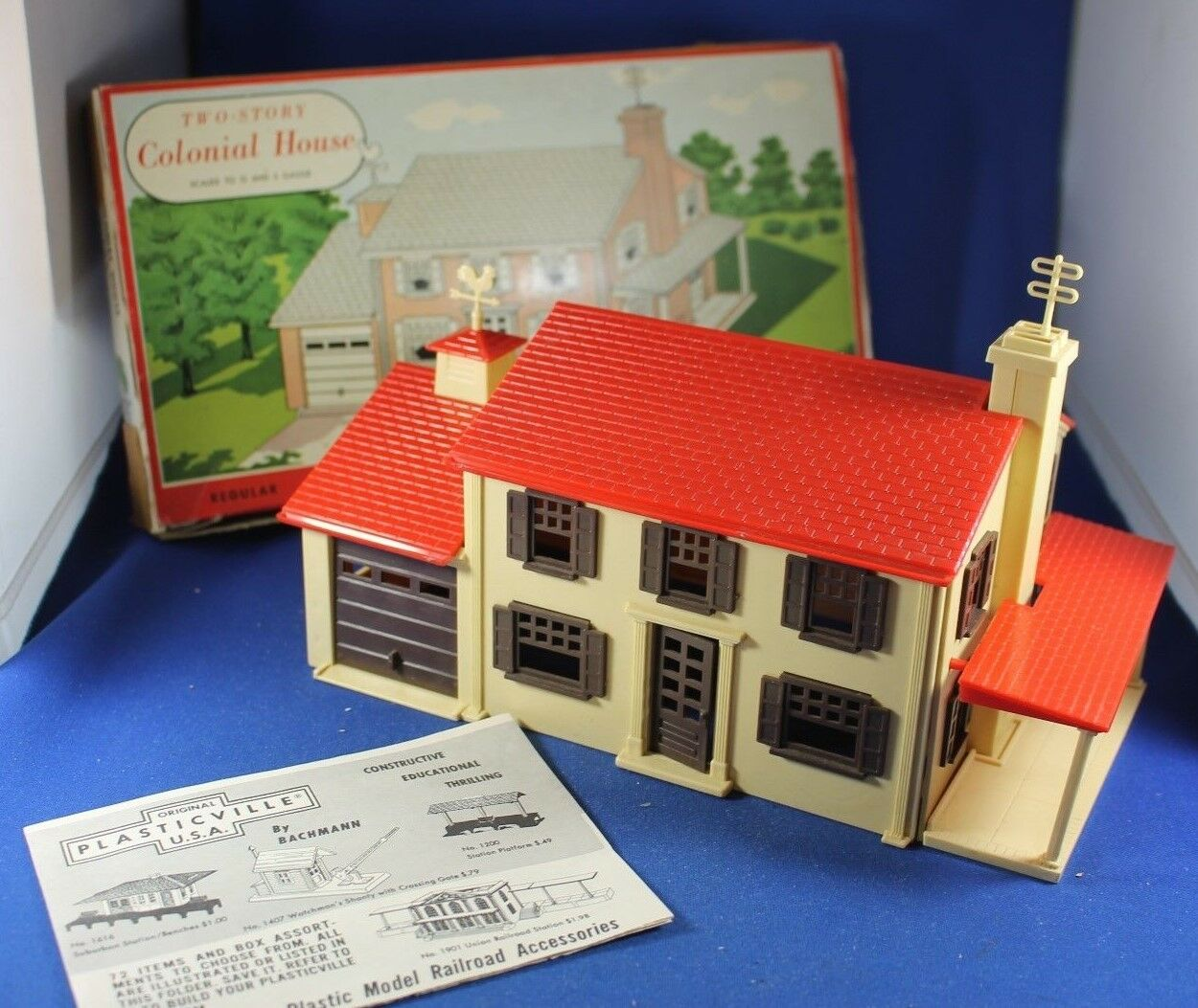 Plasticville - Two Story Colonial House - Complete - Box - Excellent