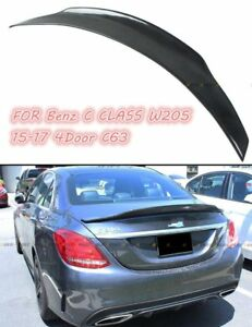 Details about CARBON FIBER PSM STYLE TRUNK WING REAR SPOILER FOR Benz W205  C CLASS (COUPE) C63