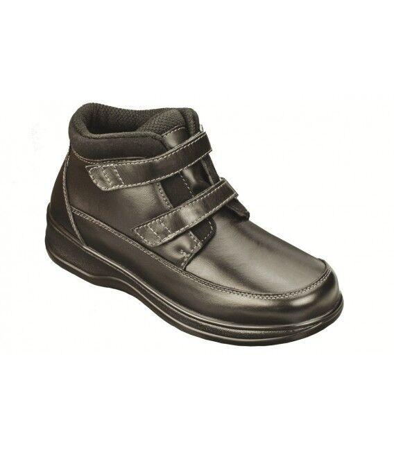 NIB ORTHOFEET Orthotic Loop Shenandoah BLACK Hook & Loop Orthotic STRAP Ankle BOOTS Size 7.5 M f2103e